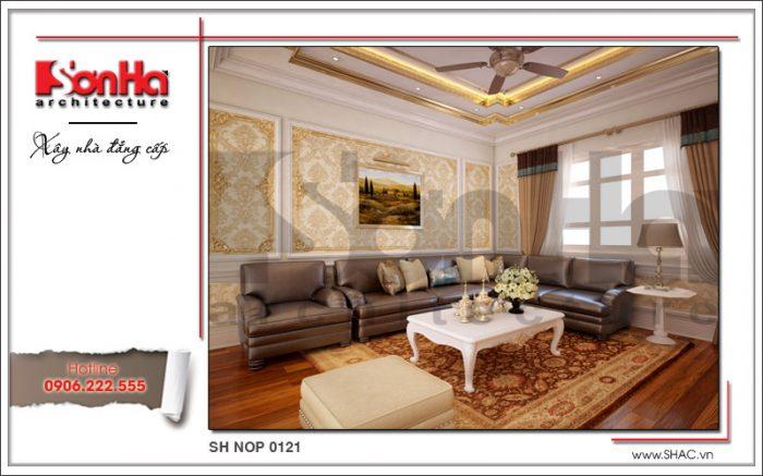 thiết kế nội thất bàn phòng khách hiện đại đẹp