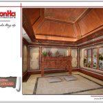 Mẫu thiết kế nội thất phòng thờ cổ điển đẹp đơn giản SH BTLD 0023