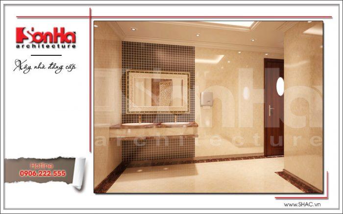 Mẫu thiết kế nội thất phòng vệ sinh nữ khách sạn tại Đà Nẵng sh ks 0031