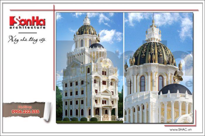Mẫu thiết kế biệt thự cổ điển kiểu lâu đài Pháp 6 tầng được đề xuất cho các CĐT