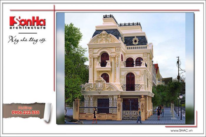 Thêm một phương án thiết kế biệt thự kiến trúc lâu đài cổ điển 3 tầng được đánh giá cao của SHAC