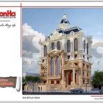 Mẫu thiết kế kiến trúc biệt thự lâu đài cổ điển Pháp sh btld 0024
