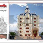 Thiết kế biệt thự cổ điển Pháp 6 tầng tại Vũng Tàu sh btp 0096