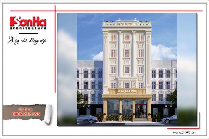 Phương án thiết kế khách sạn 3 sao cổ điển Pháp tại Quảng Ninh điển hình cho sự đẳng cấp