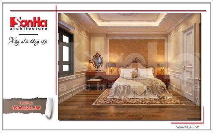 Thiết kế nội thất phòng ngủ 1 sang trọng sh nop 0122