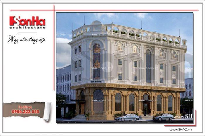 Mẫu văn phòng kiến trúc cổ điển đẹp được thiết kế với sự vận dụng linh hoạt quan điểm mới nhất