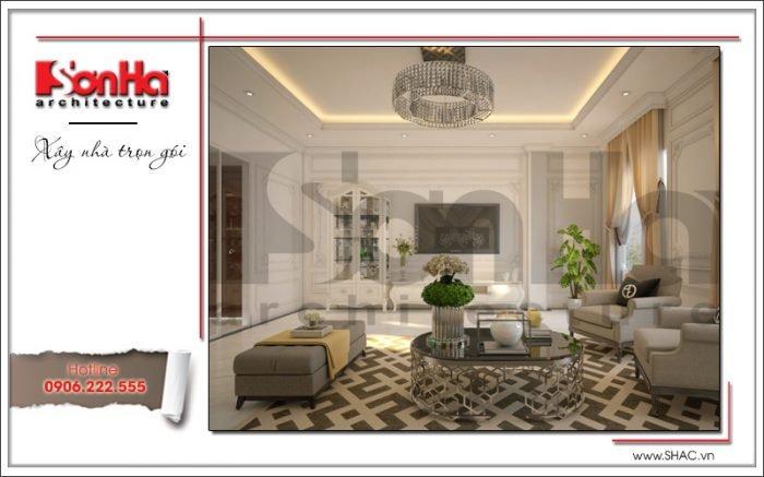 Mẫu Thiết kế phòng khách nhà ống hiện đại tại Quảng Ninh sh nod 0159