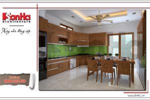 Mẫu thiết kế phòng bếp nội thất gỗ sh nop 0124