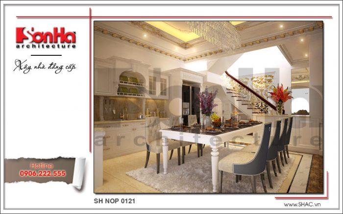Thiết kế nội thất phòng bếp cổ điển sang trọng nhà phố kiến trúc Pháp sh nop 0121