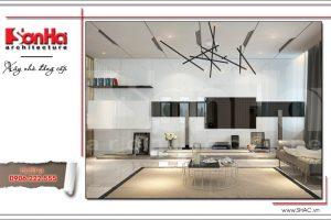 Thiết kế nội thất phòng khách phong cách hiện đại tại Cần Thơ sh btd 0048