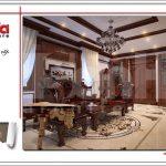 Mẫu thiết kế nội thất phòng khách đẹp nhà phố cổ điển sh nop 0125
