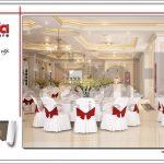Thiết kế nội thất phòng ăn tầng lửng khách sạn tại Đà Nẵng sh ks 0031