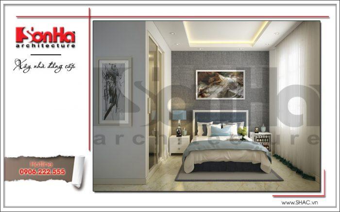 Thiết kế nội thất phòng ngủ 1 khách sạn mini 4 tầng kiến trúc cổ điển sh ks 0031