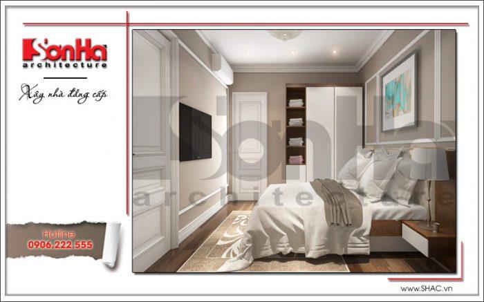 Thiết kế nội thất phòng ngủ hiện đại 3 sang trọng sh nop 0122