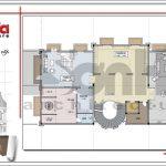 Mặt bằng tầng 3 biệt thự cổ điển Pháp tại Vũng Tàu sh btld 0024