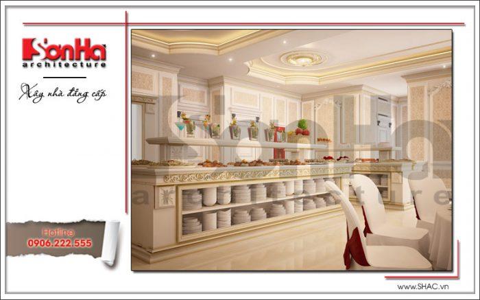 Mẫu thiết kế nội thất phòng ăn tầng lửng khách sạn tại Đà Nẵng sh ks 0031