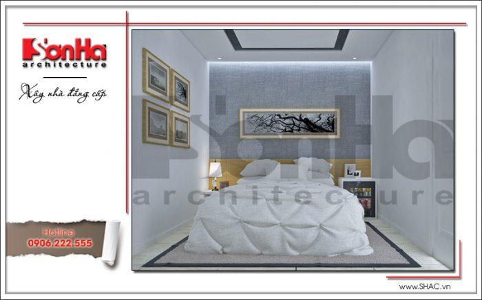 Mẫu thiết kế nội thất phòng ngủ 2 khách sạn mini 4 tầng kiến trúc cổ điển sh ks 0031