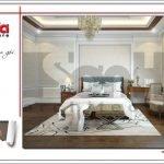 Mẫu Thiết kế phòng ngủ nhà ống hiện đại tại Quảng Ninh sh nod 0159