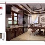 Mẫu thiết kế nội thất phòng bếp đẹp nhà phố cổ điển sh nop 0125