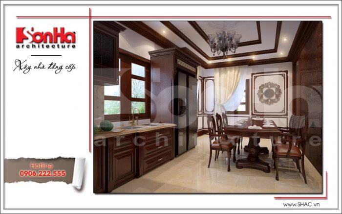 phương án thiết kế phòng ăn bằng gỗ đẹp
