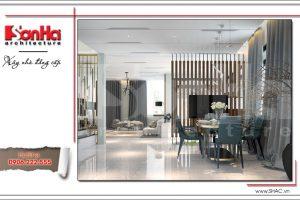Mẫu thiết kế nội thất phòng ăn phong cách hiện đại sh btd 0048