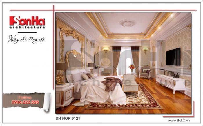 Mẫu thiết kế nội thất phòng ngủ cổ điển nhà phố kiến trúc Pháp sh nop 0121