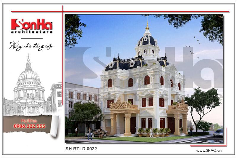 Biệt thự lâu đài 3 tầng 1 tum cổ điển điển hình cho mẫu thiết kế biệt thự triệu đô tại Đồng Tháp