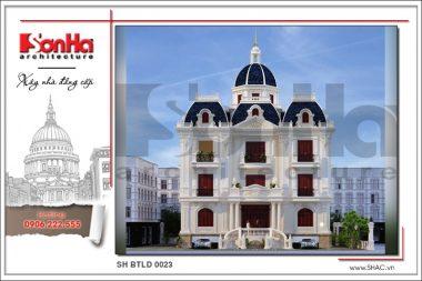 Mẫu biệt thự lâu đài cổ điển 3 tầng đẹp nhất Nam Định – SH BTLD 0023 1