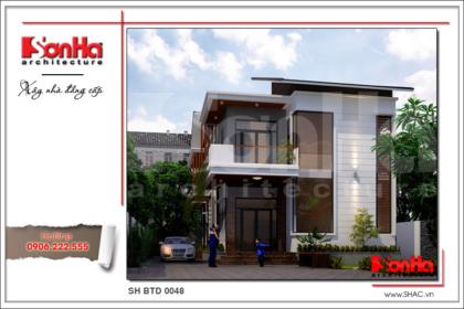 Thiết kế biệt thự 2 tầng hiện đại sh btd 0048