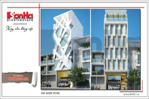 Thiết kế công trình văn phòng kiến trúc hiện đại đẹp sh vp 0024