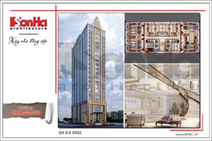 BÌA Mẫu thiết kế khách sạn hiện đại tiêu chuẩn 4 sao tại Đà Nẵng sh ks 0031