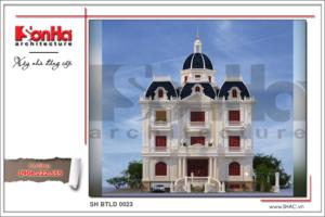 BÌA Thiết kế kiến trúc biệt thự cổ điển 3 tầng tại Nam Định SH BTLD 0023
