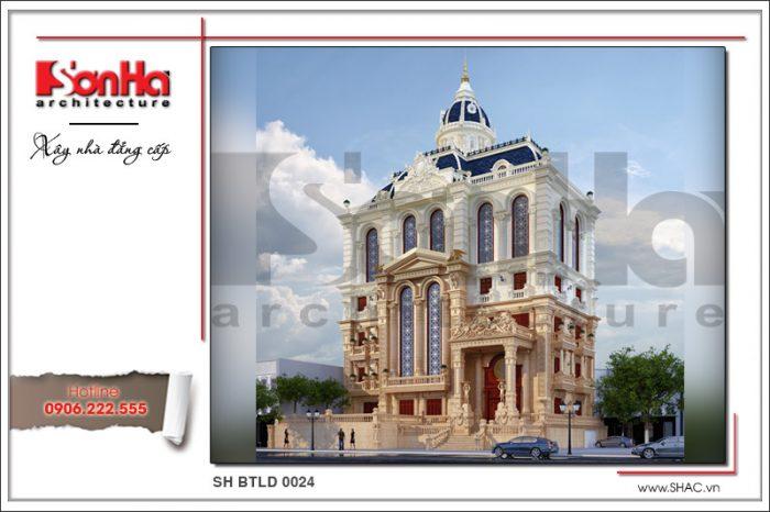 Mẫu thiết kế biệt thự lâu đài Pháp cổ điển 6 tầng đẹp 2017 tại Cần Thơ tinh tế và ấn tượng
