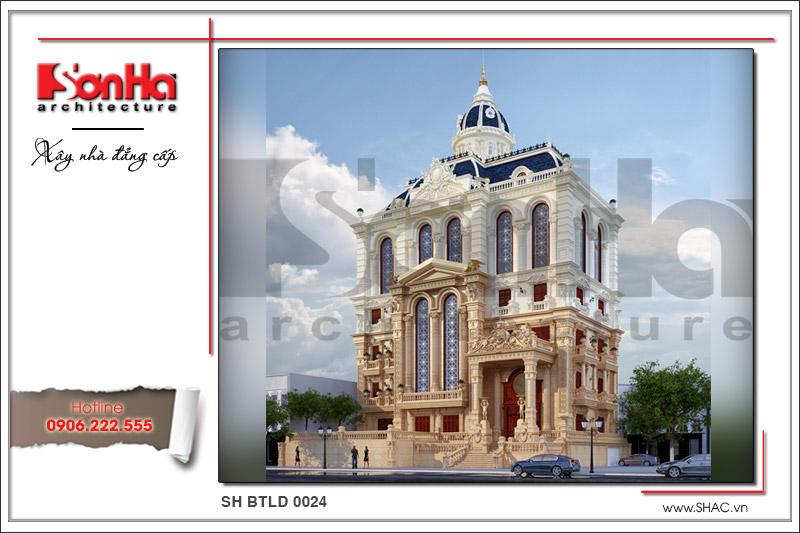 BÌA Thiết kế kiến trúc biệt thự lâu đài cổ điển Pháp sh btld 0024