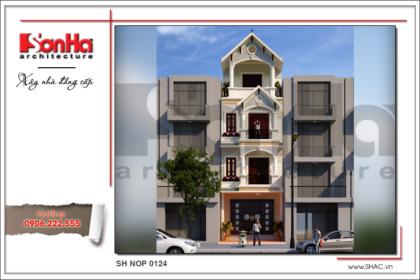 BÌA Thiết kế nhà phố cổ điển 4 tầng đẹp đẳng cấp tại Hải Phòng sh nop 0124