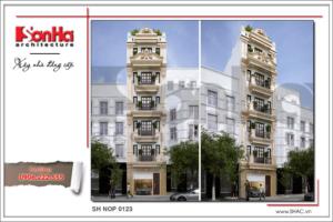 BÌA Thiết kế nhà phố kiến trúc cổ điển 6 tầng tại Quảng Ninh sh nod 0123