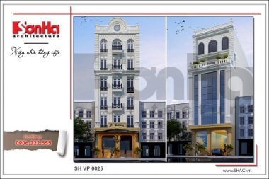 BÌA Thiết kế tòa nhà văn phòng đẹp 7 tầng tại Sài Gòn sh vp 0025