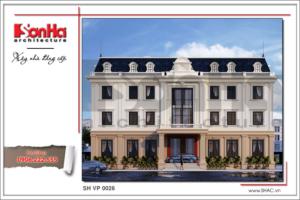 BÌA Thiết kế văn phòng kiến trúc cổ điển 4 tầng tại Cẩm Phả - Quảng Ninh sh vp 0026