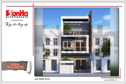 BÌA Thiết kế kiến trúc nhà phố tại Sài Gòn sh nod 0161