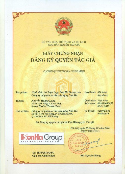 Bản quyền logo Sơn Hà Group