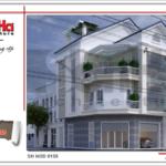 Thiết kế nhà phố hiện đại 4 tầng xu hướng 2017 sh nod 0159