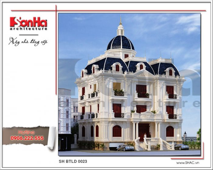 Biệt thự lâu đài kiến trúc Pháp mặt tiền đẹp 3 tầng đẳng cấp SH BTLD 0023