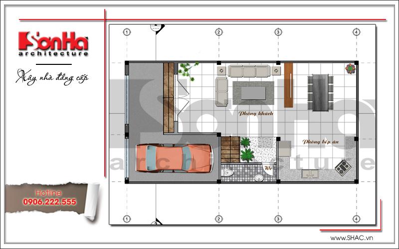 Khám phá mẫu nhà phố hiện đại 4 tầng mặt tiền độc đáo tại Hà Nội – SH NOD 0162 3