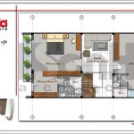 Mặt bằng tầng 2 nhà phố 4 tầng hiện đại tại Hà Nội sh nod 0162
