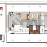 Mặt bằng tầng 4 nhà phố 4 tầng hiện đại tại Hà Nội sh nod 0162