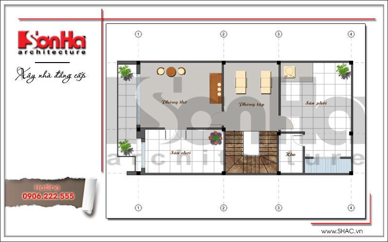 Khám phá mẫu nhà phố hiện đại 4 tầng mặt tiền độc đáo tại Hà Nội – SH NOD 0162 6