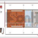 Mặt bằng tầng mái nhà phố 4 tầng hiện đại tại Hà Nội sh nod 0162