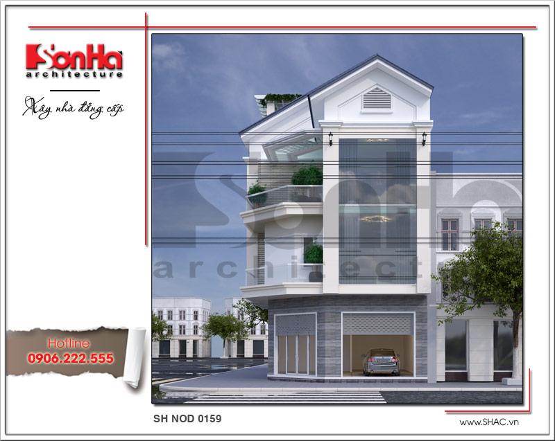 Mãn nhãn với nhà phố 4 tầng hiện đại mặt tiền rộng tại Lạng Sơn – SH NOD 0159 3
