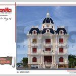 Mẫu biệt thự lâu đài cổ điển 3 tầng đẹp tại Nam Định SH BTLD 0023
