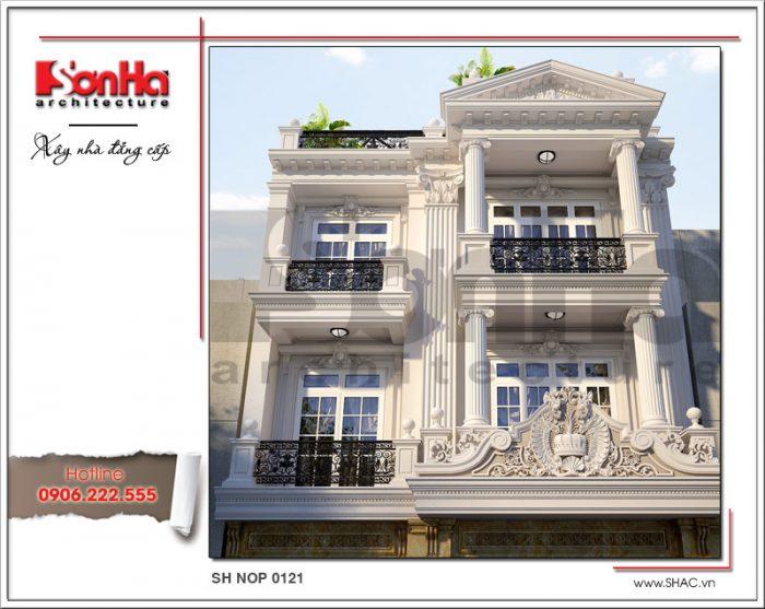 Mẫu nhà phố cổ điển kiến trúc Pháp thiết kế đẹp tại Sài Gòn sh nop 0121